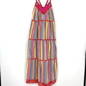 Vans Cotton Multi-Color Summer Striped Dress Small
